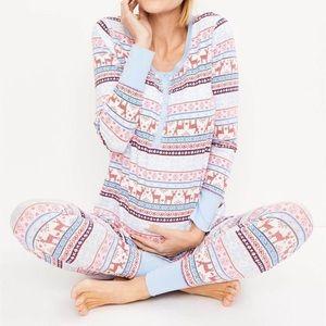 Motherhood Maternity Fairisle Pajama Set